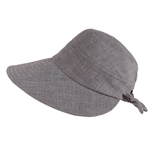2PCS été Dames Pliable Grand Chapeau De Soleil à Larges Bords Bérets Chapeau De Voyage En Plein Air gray
