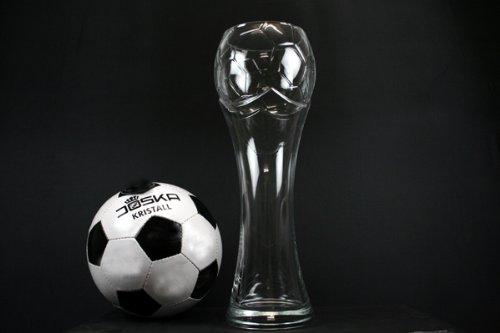 Fußball Weizen 3 Liter großes Weißbierglas