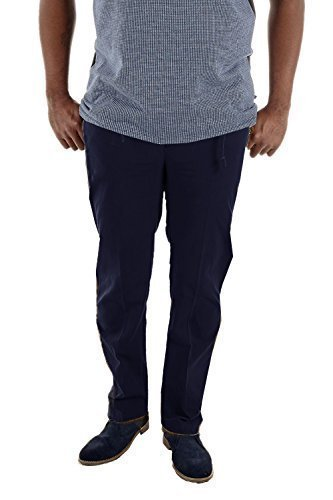 Da uomo Duca D555King Grande Lunga Basilio Button Up Rugby Pantaloni Chino pantaloni Navy Dimensione- 152 cm Vita-Lungo