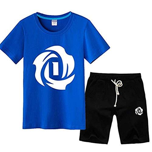 Shelfin Herren Trikot New Age Herren NBA Basketball T-Shirt Set Kurzarm Chicago Bulls Derrick Rose # 1 Basketball Jersey Sport T-Shirt Trainingsanzug T-Shirt (Color : Blue2, Size : L) (Derrick Rose Logo Shirt)