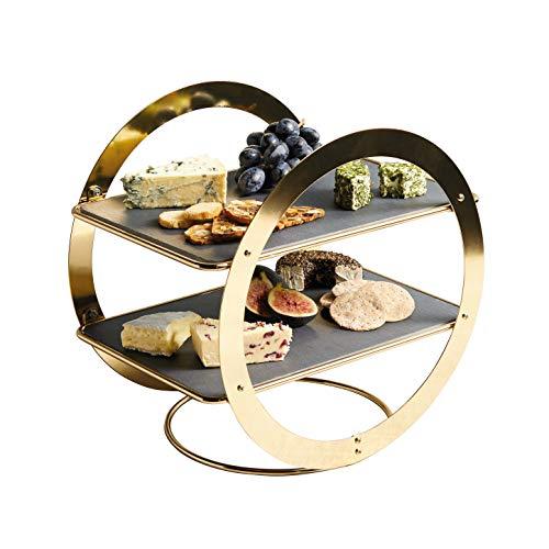 Kitchencraft art2tservwhe food stand, brass-effect