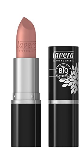 lavera Lippenstift Beautiful Lips Colour Intense ∙ Farbe Tender Taupe ∙ zart & cremig ∙ Natural & innovative Make up ✔ Bio Pflanzenwirkstoffe ∙ Lipstick ∙ Naturkosmetik 1er Pack (1 x 5 g)