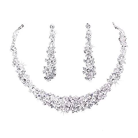 Internet New Design Bridal Jewelry Sets Hotsale Necklace+earrings Jewelry Wedding