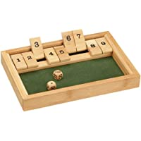 Philos 3270 - Shut The Box 9er, Bambus, Green Games, Würfelspiel, Klappenspiel
