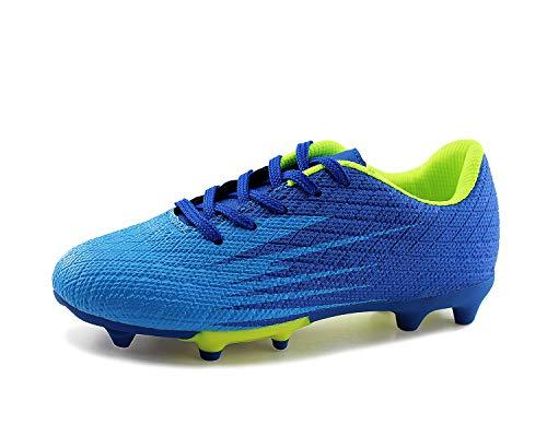 JABASIC Kinder Soccer Boots Jungen Mädchen Sportlich Draussen Fußballschuh (31,Blau)
