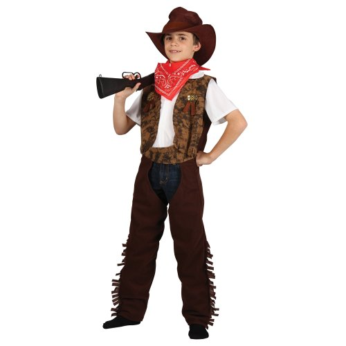 Cowboy Or Cowgirl Childrens Fancy Dress Costume Wild West Kids Outfit (Wild West Outfit)