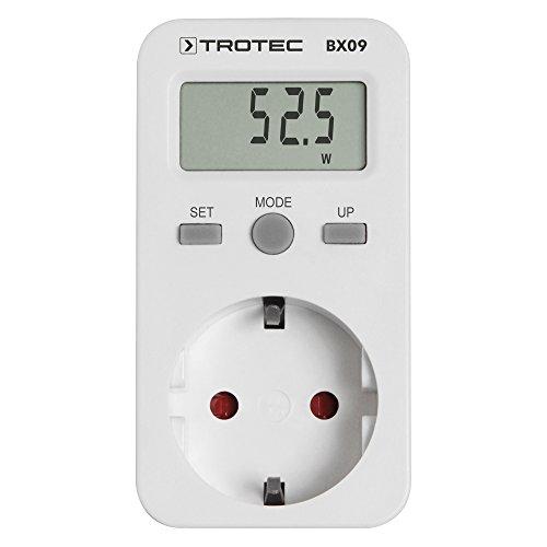 TROTEC BX09 Energiekostenmessgerät Stromkostenmessgerät Stromverbrauchszähler Standby-Verbrauchsmessung ab 0,1 W -
