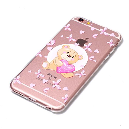 Fodlon® Chat Transparent Soft Case pour Apple iphone 6/6s Ours