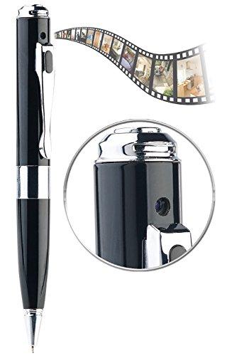 Somikon Stift Kamera: HD-Kamera im Kugelschreiber mit Infrarot-Nachtsicht, SD-Aufnahme, Akku (Kugelschreiber Cam)