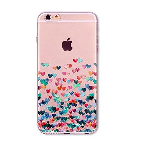 Coque en gel silicone souple , cœur , love , saint valentin , amour , Iphone 6 PLUS ,6+ 6S