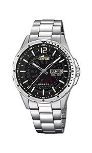 Lotus Watches Reloj Análogo clásico para Hombre de Cuarzo con Correa en Acero Inoxidable 18524/4