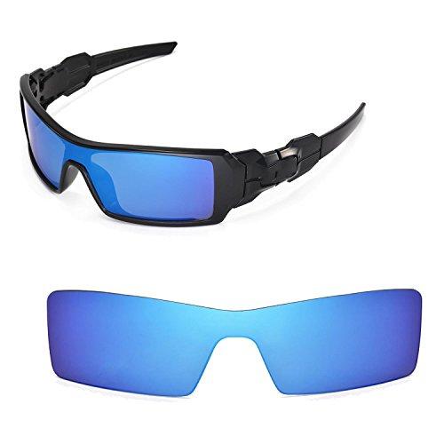 Walleva Ersatzgläser für Oakley Oil Rig Sonnenbrille - Mehrfache Optionen (Eisblau - Polarisiert)