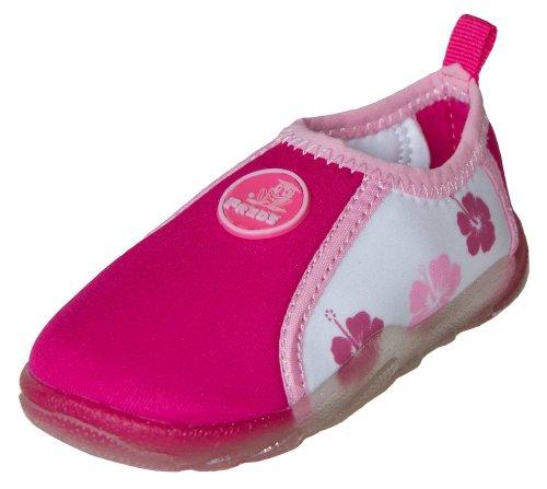 FREDS SWIM ACADEMY Kinder Aqua Schuhe Badeschuhe Wasserschuhe Strandschuhe 22 pink