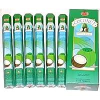Räucherstäbchen Kokosnuss (6Packungen = 120Sticks) mit Stick Halter von Sterling effectz preisvergleich bei billige-tabletten.eu