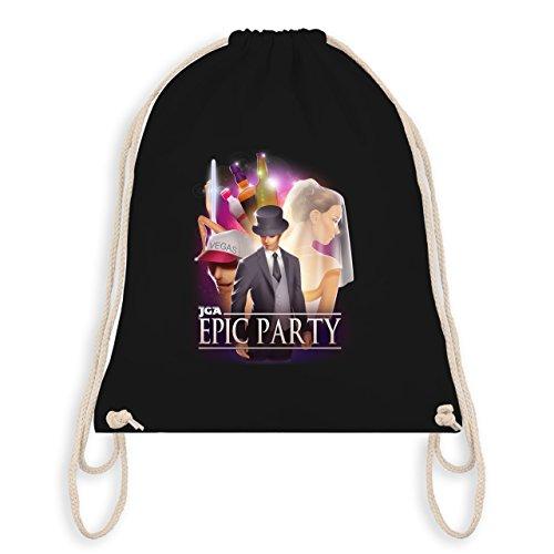 JGA Junggesellenabschied - JGA Epic Party Filmposter - Turnbeutel I Gym Bag Schwarz