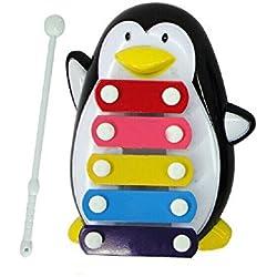 Kaiki Juguetes musicales,Baby Kid 5-Note Xilófono Musical Juguetes Sabiduría Desarrollo Pingüino (Negro)