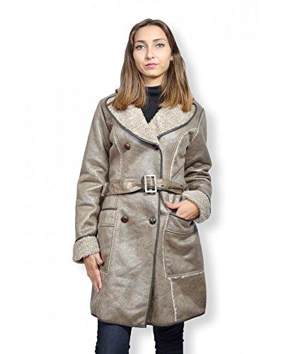 Mantel damen B. Young–Mantel Damen Schaffell Größe 36, Farbe beige Gr. 34, braun