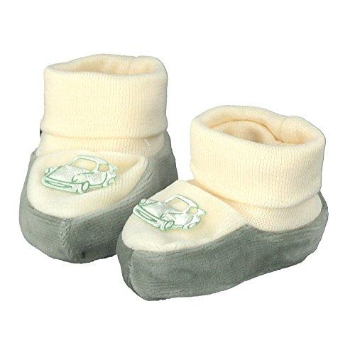 pantau.eu Babyschuhe Erstlingsschuhe Taufschuhe Babyschühchen Nicki 0-3 Monate BEIGE_GRUEN_AUTO_GRUEN