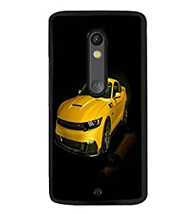 printtech Superfast Car Back Case Cover for Moto X Pure Edition
