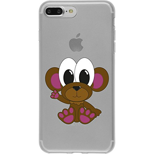 PhoneNatic Case für Apple iPhone 8 Plus Silikon-Hülle Cutiemals M6 Case iPhone 8 Plus Tasche + 2 Schutzfolien Design:03
