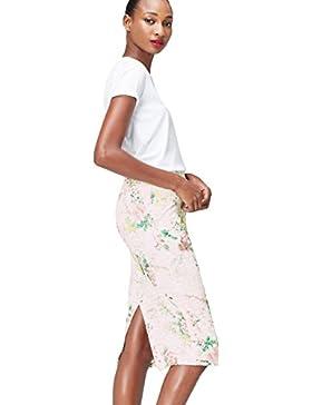 FIND Falda de Encaje Estampada para Mujer