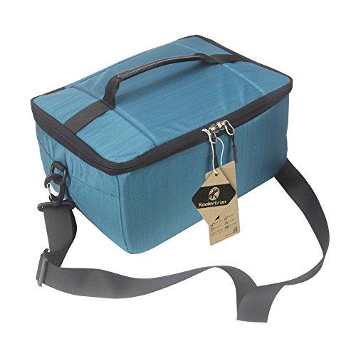 Inserto per fotocamera, custodia per fotocamera digitale koolertron dslr borsa per obiettivo universale custodia protettiva per partizione custodia impermeabile per cannone/nikon/sony (blu)