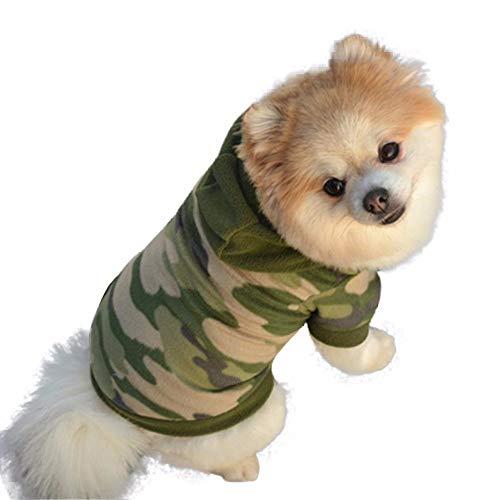 YWLINK Hund Haustier Kleidung Camo Drucken Hoodie Warmer Pullover Puppy Sport Mantel Bekleidung(camo,M)
