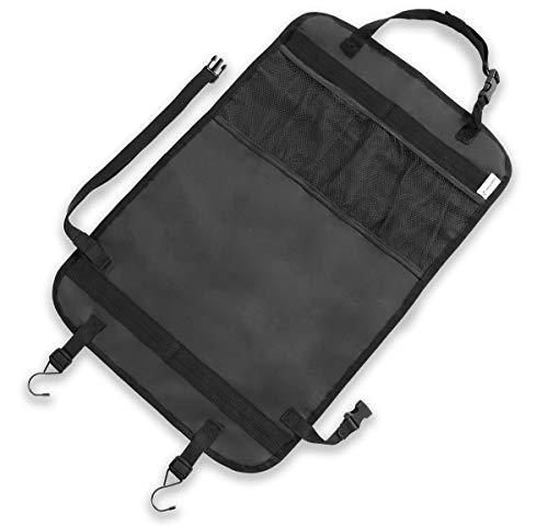 LIONSTRONG Rücksitz Organizer zum Schutz ihrer Autositze, Rückenlehnenschutz aus wasserdichtem Stoff (schwarz)