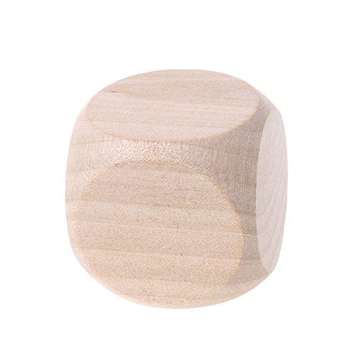 Celan Würfel aus Holz, 40 mm, blanko, für Kinder, Spielzeug, Gravur, Schreiben, Malen, Heimwerker, Familienspiel