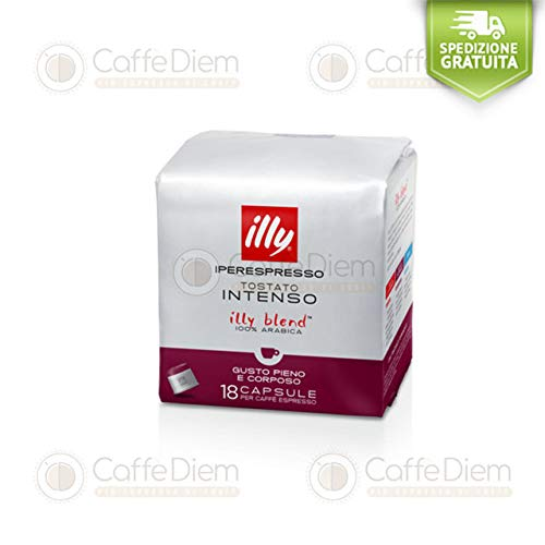 Caffè illy iperespresso Tostatura Scura 108 capsule (6 box da 18 capsule) 100% Originale - CAFFE' DIEM