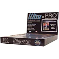 Ultra Pro 1-Pocket Platinum Page with 8 X 10 Pocket 100 ct. by Ultra Pro