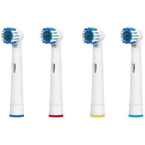 hofoo 4Pcs cabezales para cepillo de dientes eléctrico de repuesto compatible con Braun Oral B