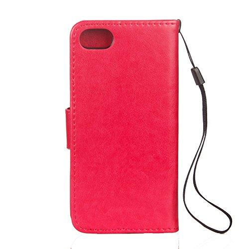 Cover iPhone 5 5s SE, Sportfun Custodia Portafoglio In Pelle Con Wallet Case Cover Per iPhone 5 5s SE con Porta Carte e Funzione Stand (03) 08