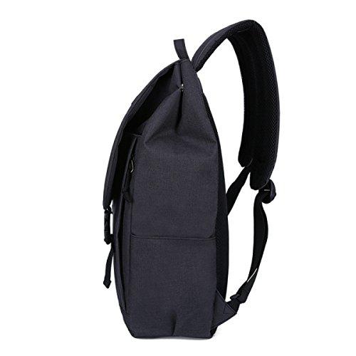 Ogert Sport Rucksack Student Urlaubsreisen Laptop-Tasche Black