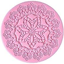 YL flores A012redondo de encaje molde de silicona molde azúcar Craft Cake Fondant Herramienta de decoración de pasteles para hornear