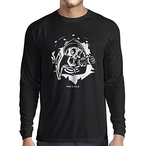Camiseta Manga Larga Hombre cráneo Bomba - Tiempo