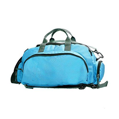 Student uni pack Reisetasche grün carry on blau