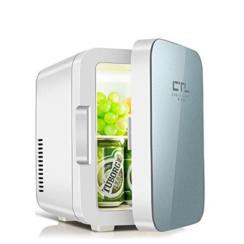 Sunjun 6L Kühlung Auto Kühlschrank, kalt und warmes Auto Dual-Use einfach zu 220V AC / 12V DC zu tragen (Farbe : Blau) (Dc Tragen)