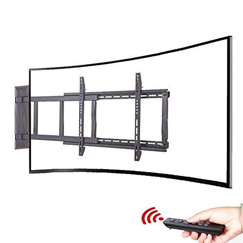 Gekrümmte Wand Halterung (LBYMYB TV-Halterung 32-70 Zoll intelligente Fernbedienung elektrische gekrümmte TV-Rahmen Multifunktions-Teleskop drehbaren Display Stehen Anti-Kollisions-Infrarot-Steuerung TV-Rack)