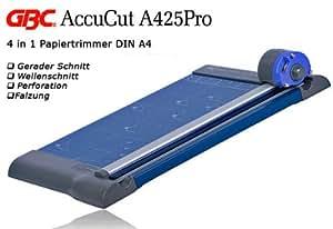 AccuCut a425pro adaptateur 4 en 1 avec 100 x pochettes de plastification incluses-rogneuse incluse