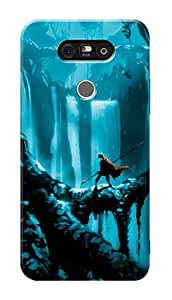 LG G5 Black Hard Printed Case Cover by Hachi - Warrior Design