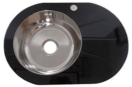 Design elegante di alta qualità, colore: nero con inserto in