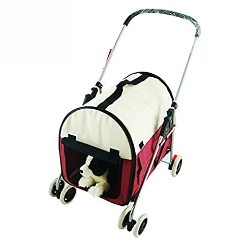 NAUY- Multi-function Hand Carry Four-wheel Pet Trolley Cats And Dogs Foldable Wash Away Light Pet Car ( Color : #3