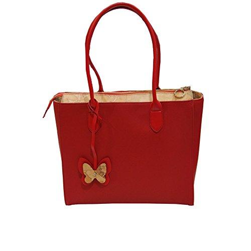Borsa Donna Shopping a Saplla | Alviero Martini 1^Classe Geo | LGI6194070350-Rosso