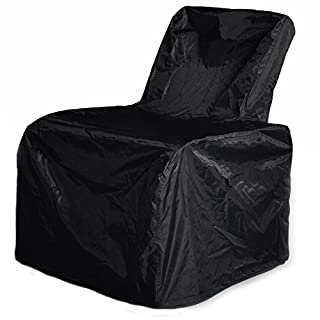 ATR Outdoor Patio Furniture Chair Protective Storage Cover, Durable and Water Resistant High Back Outdoor Chair Cover, Black, Customization