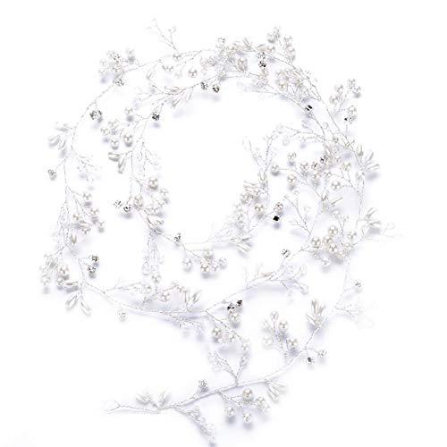 Blue-Yan Handgemachte Nachahmung Perlen Stirnband Brautkleid Zubehör für die Braut 0.5m oder 1m