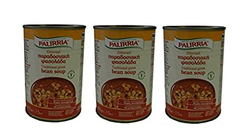 3x griechische Bohnensuppe nach traditioneller Art je 420g Konserve Bohnen