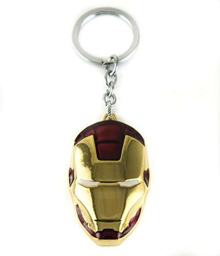 Lzy Store Tony Stark Iron Man O War Machine Helmet Super Hero Borsa Accessori per portachiavi, Goldene
