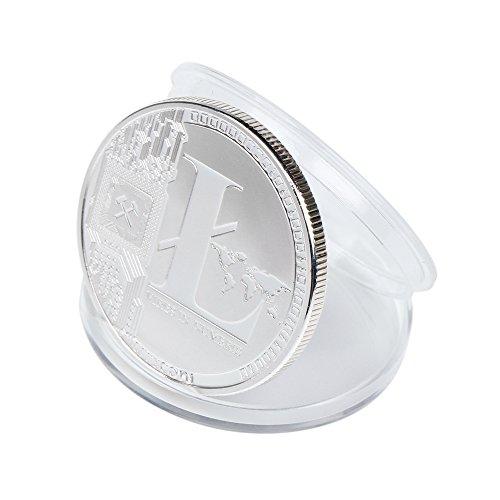 TS Trade Litecoin Coin Gedenkmünzen Gold Silber Plated Collection Physisches Geschenk - 3