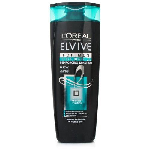 LOREAL Elvive Shampoo renforçateur Triple Action gegen die Verlust der Haar für Herren